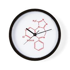 Xanax Molecule Wall Clock
