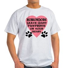 Komondor Pawprints T-Shirt
