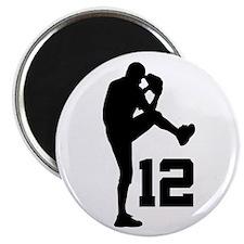 Baseball Uniform Number 12 Magnet