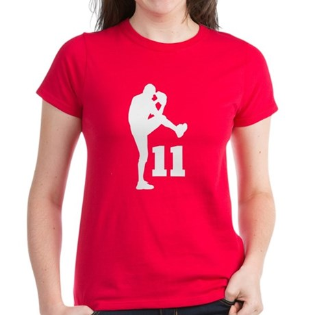 Baseball Uniform Number 11 Women's Dark T-Shirt