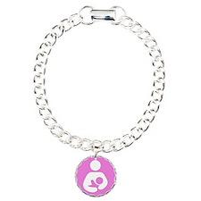 I Nurse in Public PInk Logo Charm Bracelet, One Ch