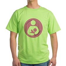 I Nurse in Public PInk Logo T-Shirt