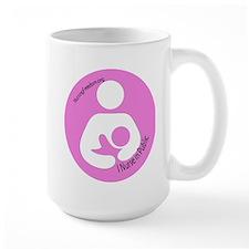 I Nurse in Public PInk Logo Mug
