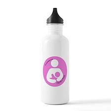 I Nurse in Public PInk Logo Stainless Water Bottle
