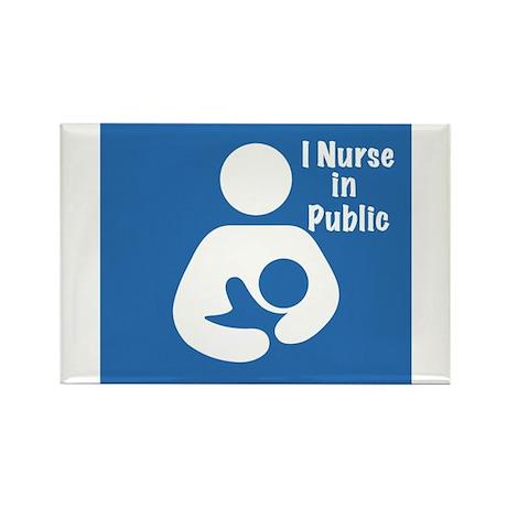 Nursing in Public Rectangle Magnet (10 pack)