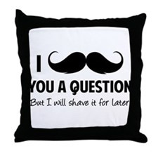 Moustache question Throw Pillow