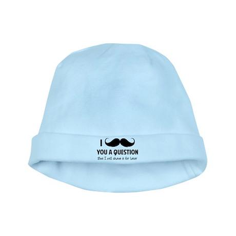 Moustache question baby hat