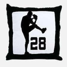 Baseball Uniform Number 28 Throw Pillow