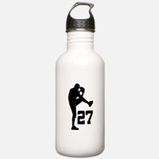 Baseball Uniform Number 27 Water Bottle