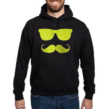 cool moustache Hoodie (dark)