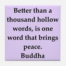 Buddha wisdom Tile Coaster