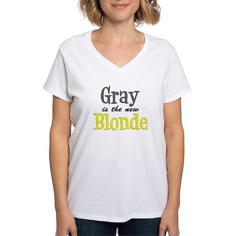 Gray Is The New Blonde Women's V-Neck T-Shirt