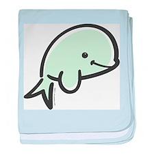 Cute Baby Beluga baby blanket