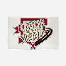 Head Neck Cancer Survivor Rectangle Magnet