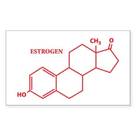 Estrogen Molecule Rectangle Sticker