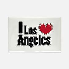 I Love Los Angeles / Bubble L Rectangle Magnet (10