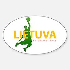 Eurobasket 2011 Dunker Sticker (Oval)