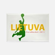 Eurobasket 2011 Dunker Rectangle Magnet (100 pack)