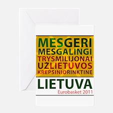 Eurobasket 2011 Sukis Greeting Card