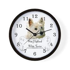Westie 1 Wall Clock
