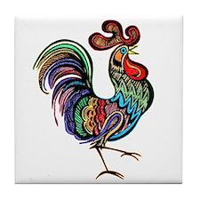 Rooster Tile Coaster