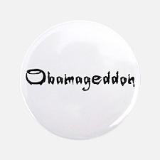 "Obamageddon - Anti Obama 2012 3.5"" Button"