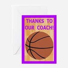 Basketball Coach Thank You Greeting Card