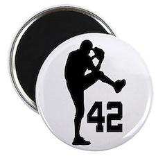 Baseball Uniform Number 42 Magnet