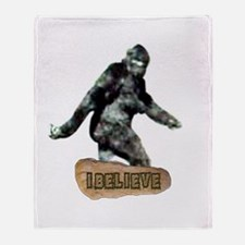 Bigfoot-I Believe Throw Blanket