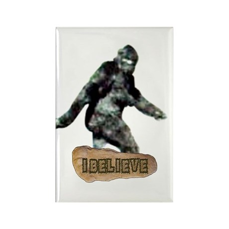 Bigfoot-I Believe Rectangle Magnet