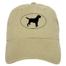 Black Lab Outline Baseball Cap