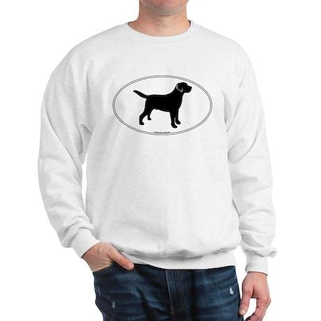Black Lab Outline Sweatshirt