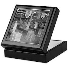 Retro Grocery Cashiers Keepsake Box