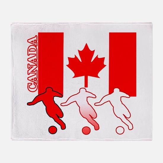 Canada Soccer Throw Blanket