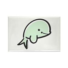 Cute Baby Beluga Rectangle Magnet