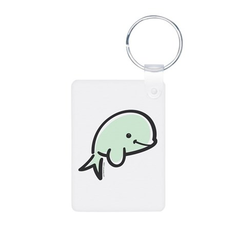 Cute Baby Beluga Aluminum Photo Keychain