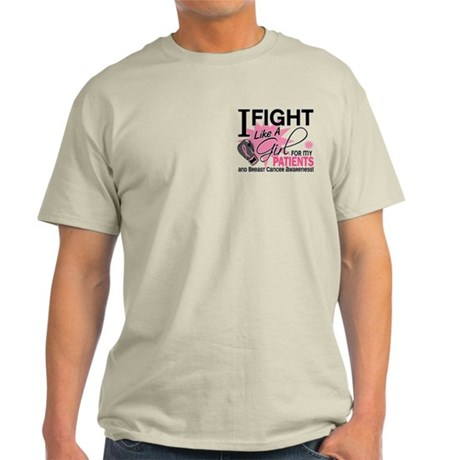 Fight Like A Girl Breast Cancer Light T-Shirt