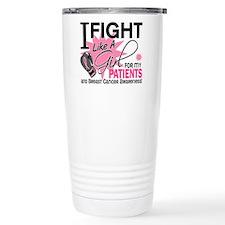 Fight Like A Girl Breast Cancer Travel Mug