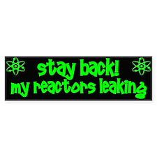 Stay Back! Bumper Sticker