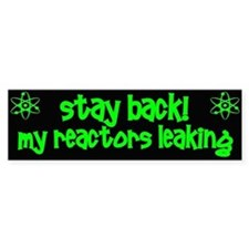 Stay Back! Bumper Stickers