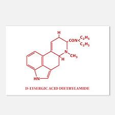LSD Molecule Postcards (Package of 8)