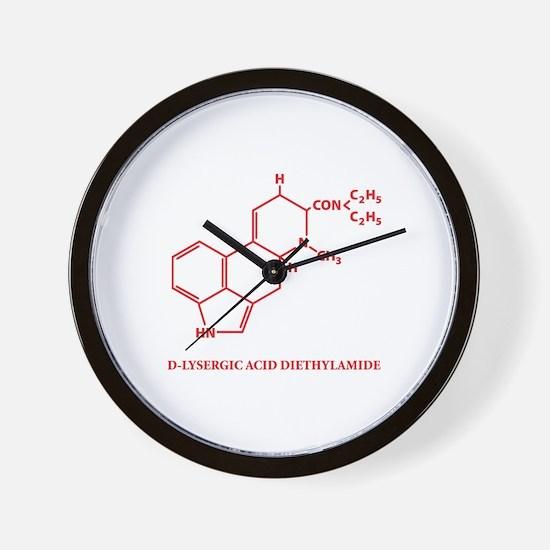 LSD Molecule Wall Clock