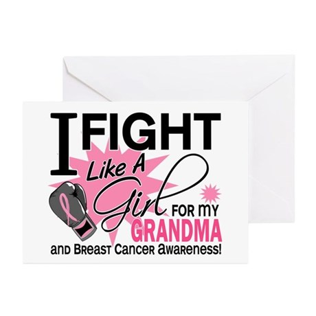 Fight Like A Girl Breast Cancer Greeting Cards (Pk