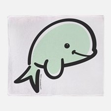 Cute Baby Beluga Throw Blanket