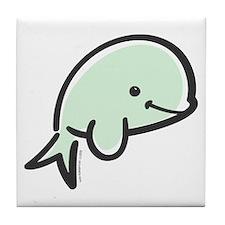 Cute Baby Beluga Tile Coaster