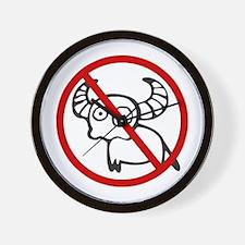 Funny NO Buffalo Thai Sign Wall Clock