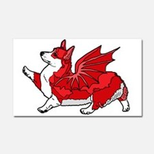 The Red Corgon - plain Car Magnet 20 x 12