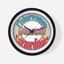 FISHERWOMAN GRAMMIE Wall Clock