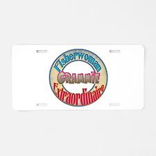 FISHERWOMAN GRAMMIE Aluminum License Plate