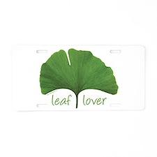 Leaf Lover Aluminum License Plate